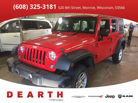 2015 Jeep Wrangler Unlimited for sale in Monroe, WI