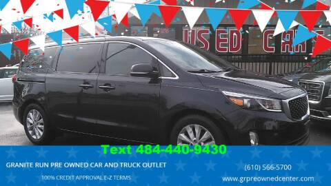 2015 Kia Sedona for sale at GRANITE RUN PRE OWNED CAR AND TRUCK OUTLET in Media PA