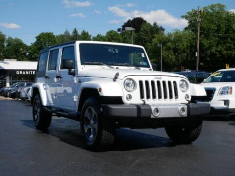 2018 Jeep Wrangler JK Unlimited for sale at GRANITE RUN PRE OWNED CAR AND TRUCK OUTLET in Media PA