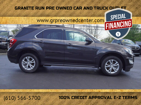 2016 Chevrolet Equinox for sale at GRANITE RUN PRE OWNED CAR AND TRUCK OUTLET in Media PA