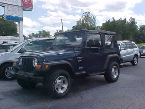 2001 Jeep Wrangler for sale at Bates Auto & Truck Center in Zanesville OH
