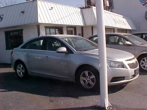 2013 Chevrolet Cruze for sale at Bates Auto & Truck Center in Zanesville OH