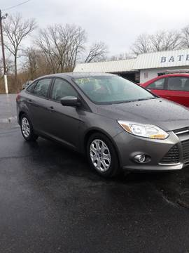2012 Ford Focus for sale at Bates Auto & Truck Center in Zanesville OH