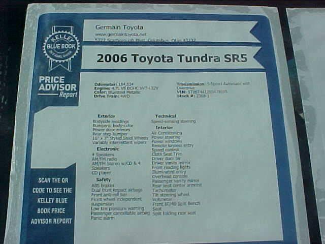 2006 Toyota Tundra for sale at Bates Auto & Truck Center in Zanesville OH