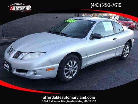 2003 Pontiac Sunfire for sale in Westminster, MD