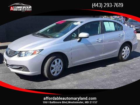 2014 Honda Civic for sale in Westminster, MD