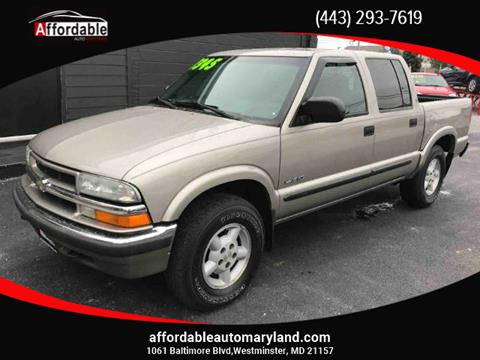 2002 Chevrolet S-10 for sale in Westminster, MD