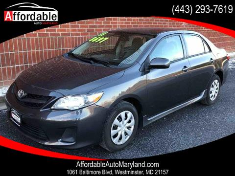 2011 Toyota Corolla for sale in Westminster, MD