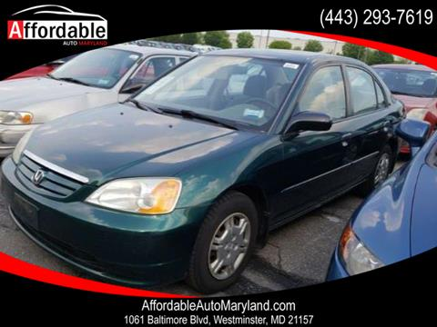 2002 Honda Civic for sale in Westminster, MD