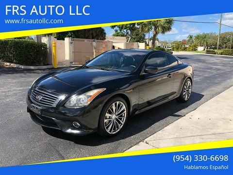2011 Infiniti G37 Coupe Sport for sale at FRS AUTO LLC in West Palm Beach FL