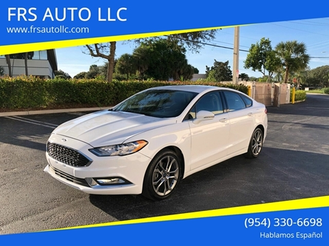 2017 Ford Fusion SE for sale at FRS AUTO LLC in West Palm Beach FL