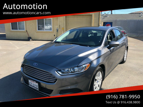 2013 Ford Fusion for sale at Automotion in Roseville CA