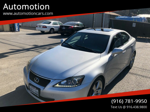 2011 Lexus IS 250 for sale at Automotion in Roseville CA
