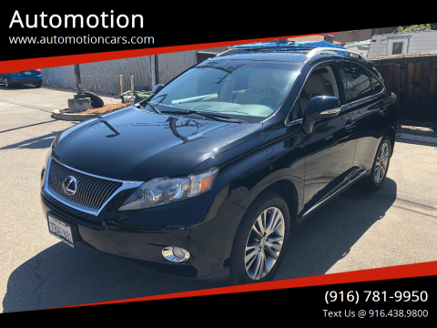 2012 Lexus RX 450h for sale at Automotion in Roseville CA
