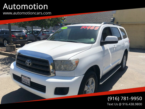 2008 Toyota Sequoia for sale at Automotion in Roseville CA
