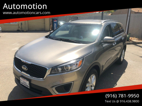 2016 Kia Sorento for sale at Automotion in Roseville CA