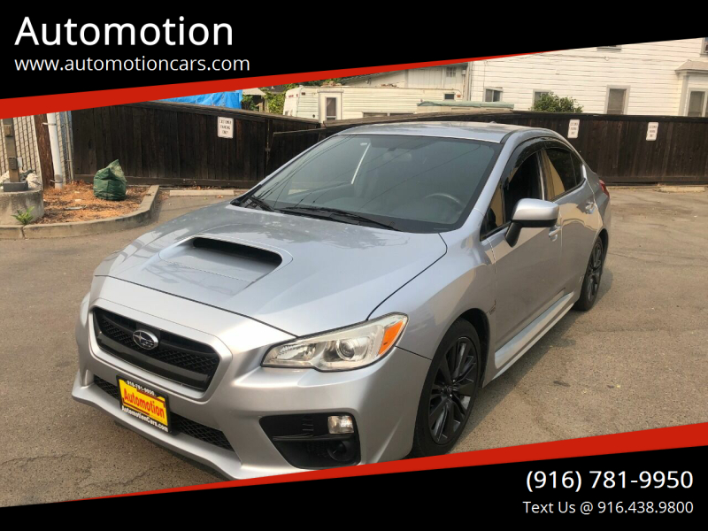 2015 Subaru WRX for sale at Automotion in Roseville CA