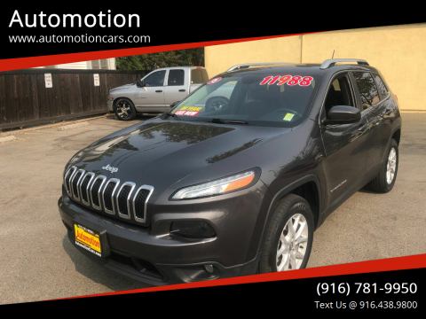 2015 Jeep Cherokee for sale at Automotion in Roseville CA