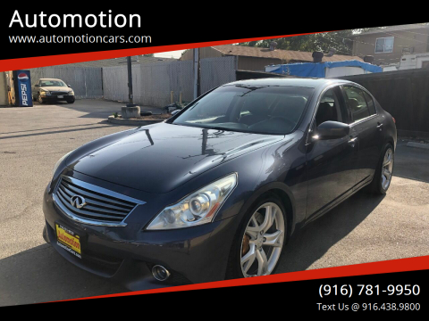 2012 Infiniti G37 Sedan for sale at Automotion in Roseville CA