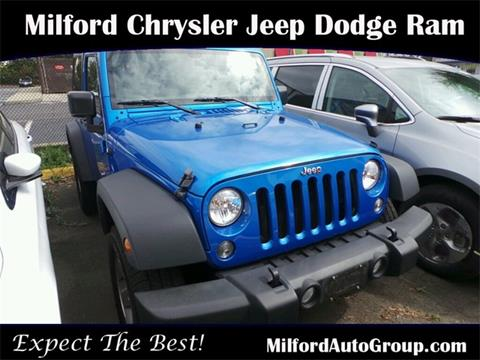 2015 Jeep Wrangler for sale in Milford CT