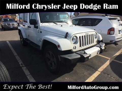 2016 Jeep Wrangler Unlimited for sale in Milford, CT