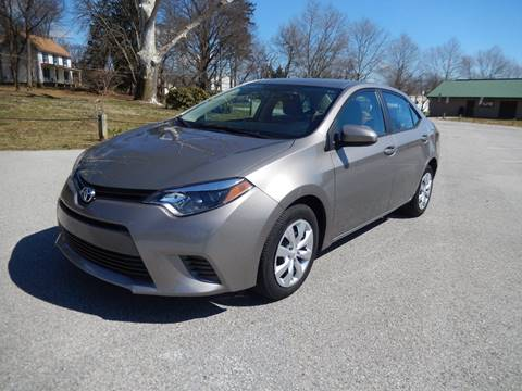 2016 Toyota Corolla LE for sale at COMPACT CARS in West Grove PA