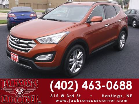 2013 Hyundai Santa Fe Sport for sale at Jacksons Car Corner Inc in Hastings NE