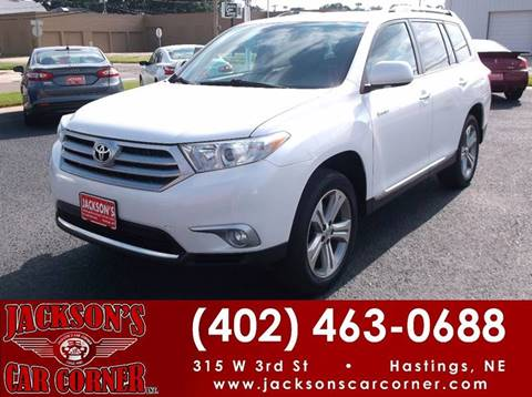 2011 Toyota Highlander for sale at Jacksons Car Corner Inc in Hastings NE