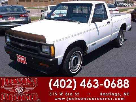 1991 Chevrolet S-10 for sale at Jacksons Car Corner Inc in Hastings NE