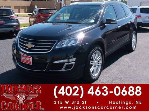 2015 Chevrolet Traverse for sale at Jacksons Car Corner Inc in Hastings NE