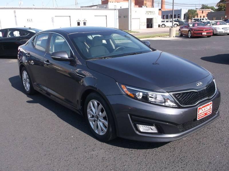 2015 Kia Optima for sale at Jacksons Car Corner Inc in Hastings NE