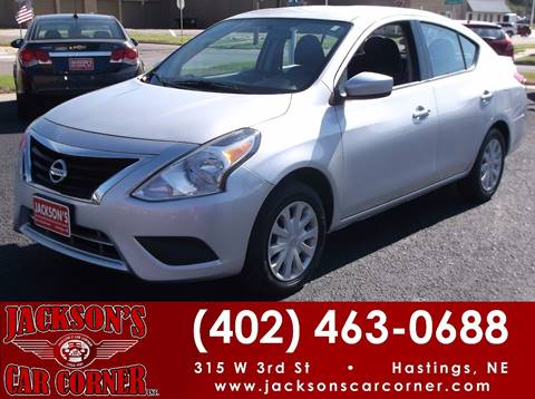 2016 Nissan Versa for sale at Jacksons Car Corner Inc in Hastings NE