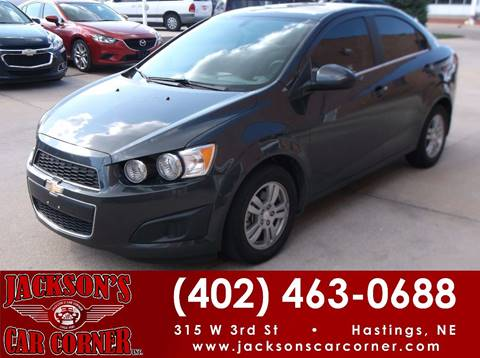 2016 Chevrolet Sonic for sale at Jacksons Car Corner Inc in Hastings NE