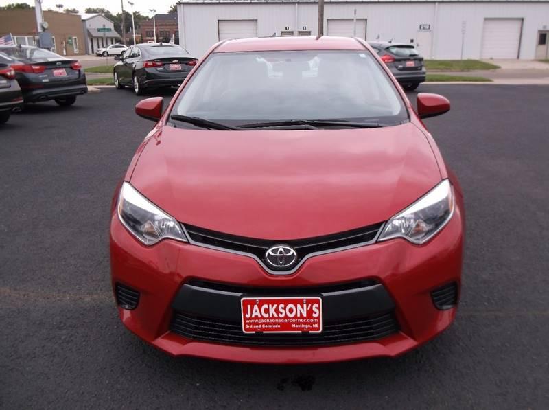 2015 Toyota Corolla for sale at Jacksons Car Corner Inc in Hastings NE