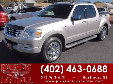 2007 Ford Explorer Sport Trac for sale at Jacksons Car Corner Inc in Hastings NE
