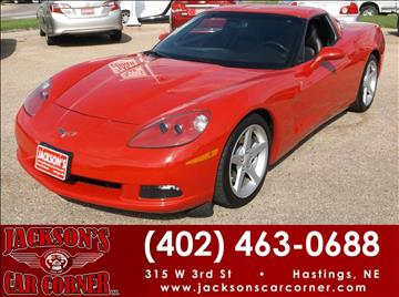 2007 Chevrolet Corvette for sale at Jacksons Car Corner Inc in Hastings NE