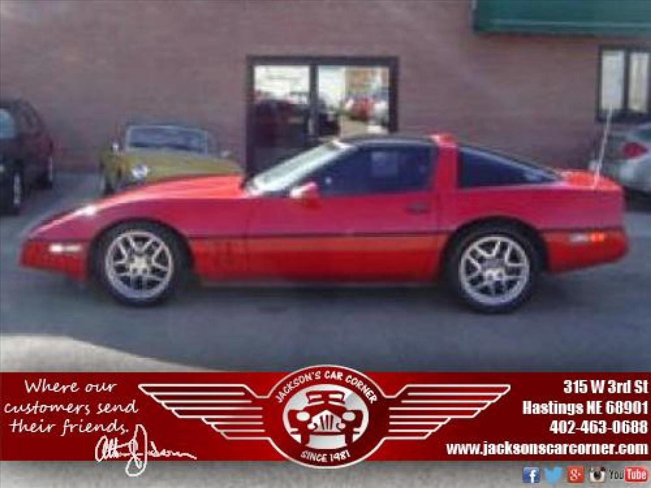 1986 Chevrolet Corvette for sale at Jacksons Car Corner Inc in Hastings NE