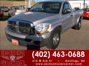 2006 Dodge Ram Pickup 2500 for sale at Jacksons Car Corner Inc in Hastings NE