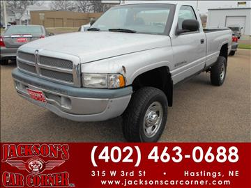 2002 Dodge Ram Pickup 2500 for sale at Jacksons Car Corner Inc in Hastings NE