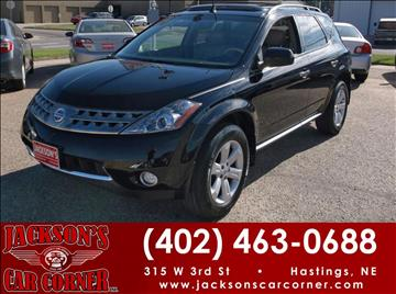 2006 Nissan Murano for sale at Jacksons Car Corner Inc in Hastings NE