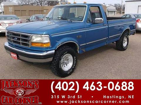 1992 Ford F-150 for sale at Jacksons Car Corner Inc in Hastings NE
