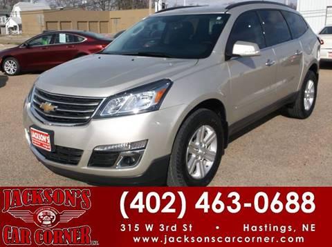 2014 Chevrolet Traverse for sale at Jacksons Car Corner Inc in Hastings NE