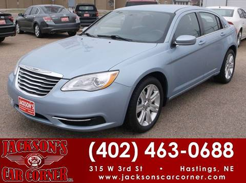 2012 Chrysler 200 for sale at Jacksons Car Corner Inc in Hastings NE