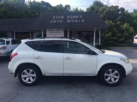 2006 Nissan Murano for sale at STAN EGAN'S AUTO WORLD, INC. in Greer SC