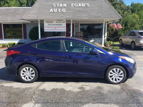 2011 Hyundai Elantra for sale at STAN EGAN'S AUTO WORLD, INC. in Greer SC