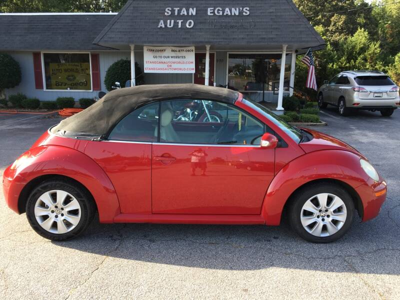 2009 Volkswagen New Beetle Convertible for sale at STAN EGAN'S AUTO WORLD, INC. in Greer SC