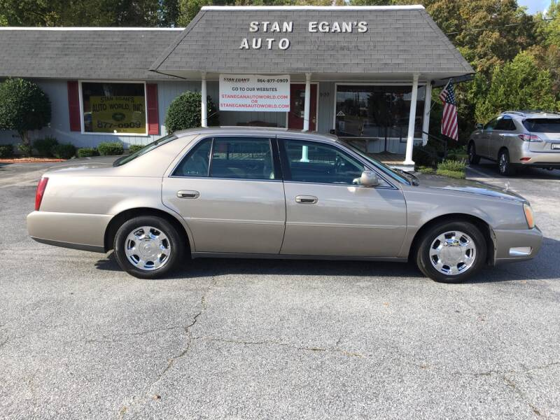 2002 Cadillac DeVille for sale at STAN EGAN'S AUTO WORLD, INC. in Greer SC
