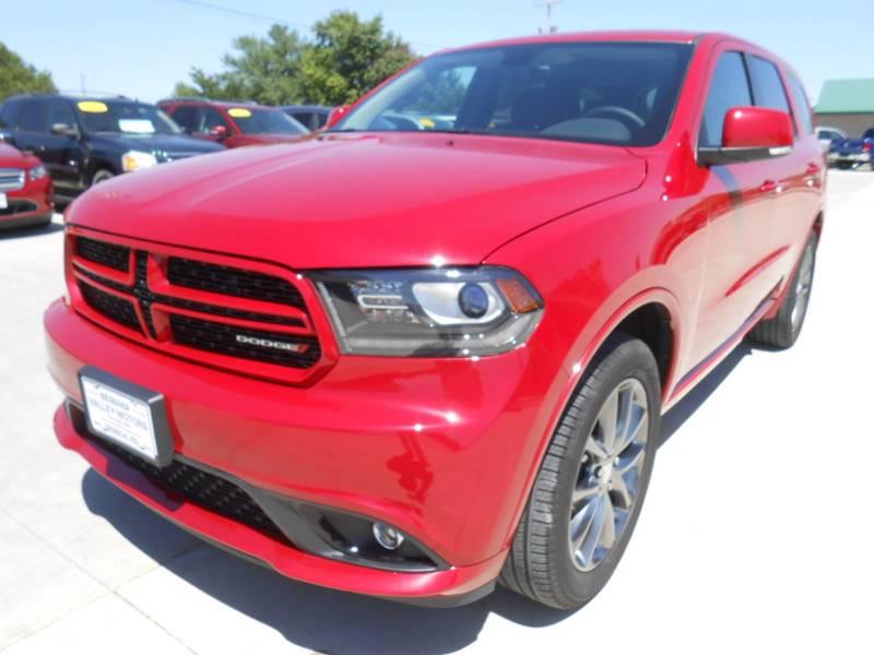 2017 Dodge Durango for sale at Nemaha Valley Motors in Seneca KS
