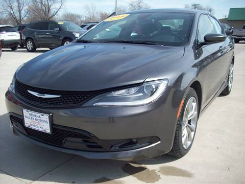 2015 Chrysler 200 for sale at Nemaha Valley Motors in Seneca KS