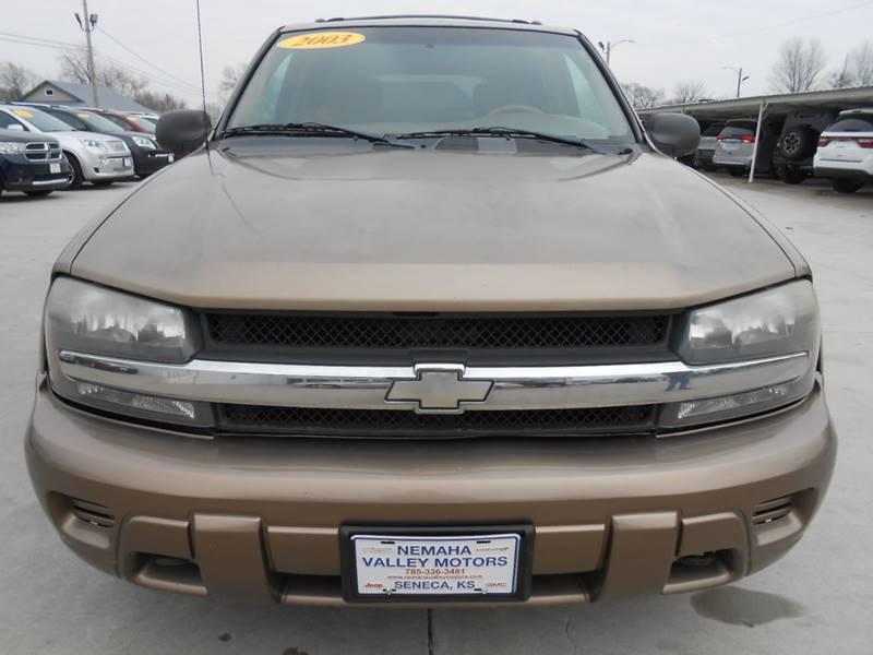 2003 Chevrolet TrailBlazer for sale at Nemaha Valley Motors in Seneca KS